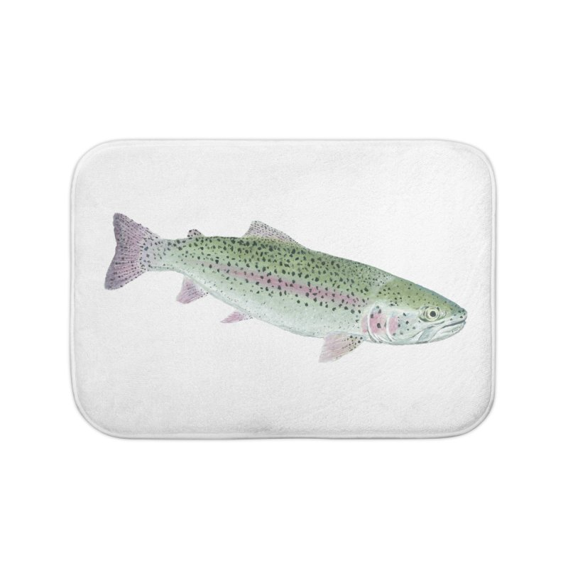 Rainbow Trout PNG Home Bath Mat by Art By BB's Artist Shop