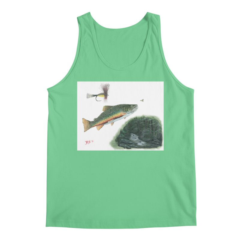 Brook Trout Collage Men's Regular Tank by Art By BB's Artist Shop