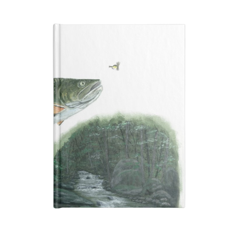 Brook Trout Collage Accessories Lined Journal Notebook by Art By BB's Artist Shop