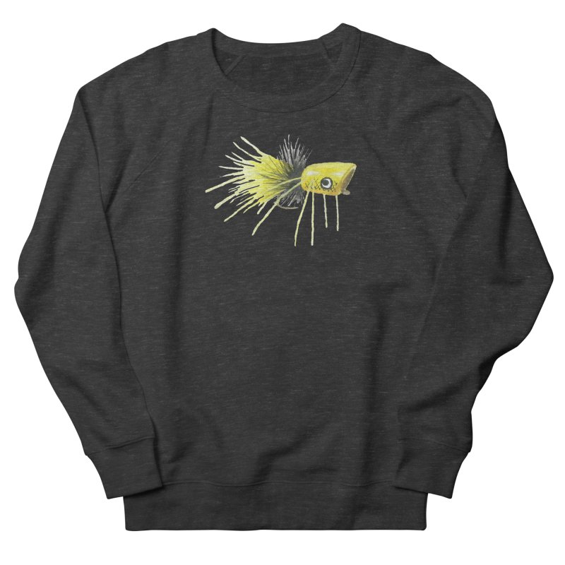 Yellow Popping Bug Men's French Terry Sweatshirt by Art By BB's Artist Shop