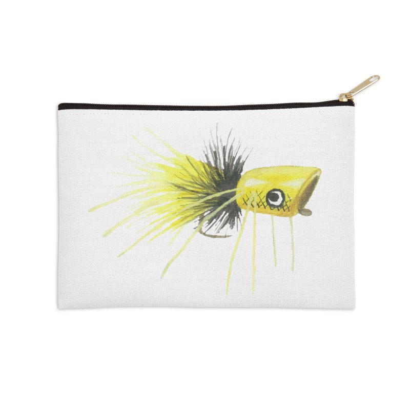 Yellow Popping Bug Accessories Zip Pouch by Art By BB's Artist Shop