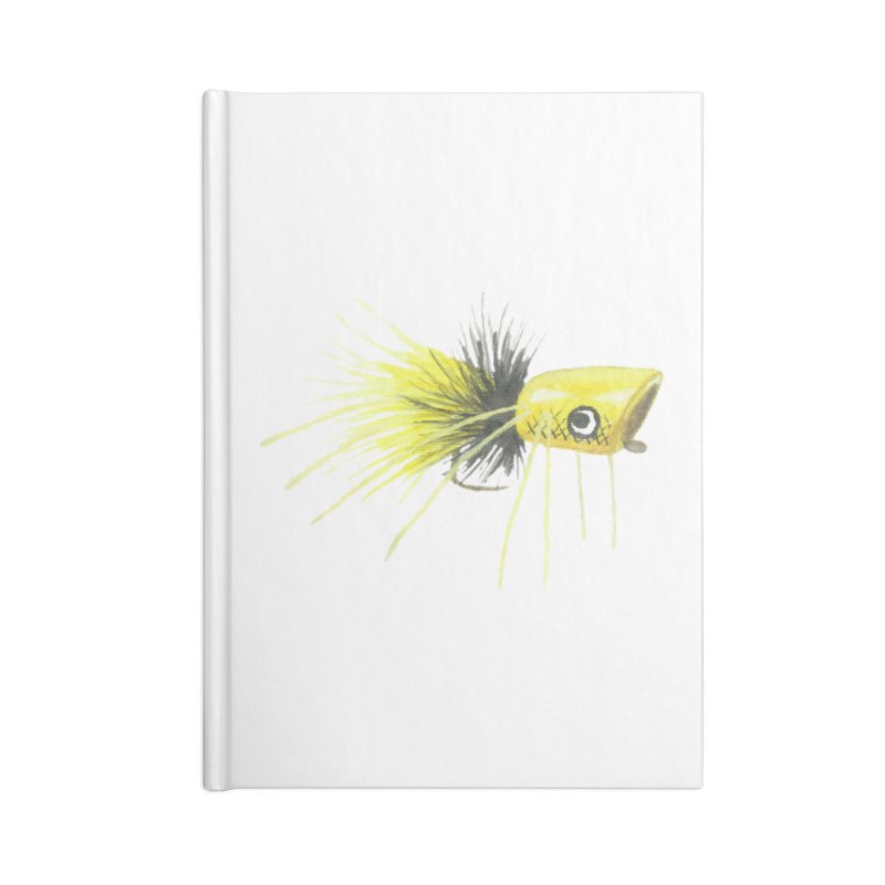 Yellow Popping Bug Accessories Lined Journal Notebook by Art By BB's Artist Shop
