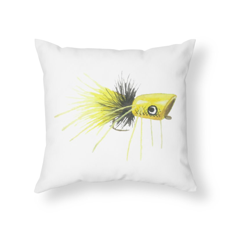 Yellow Popping Bug Home Throw Pillow by Art By BB's Artist Shop