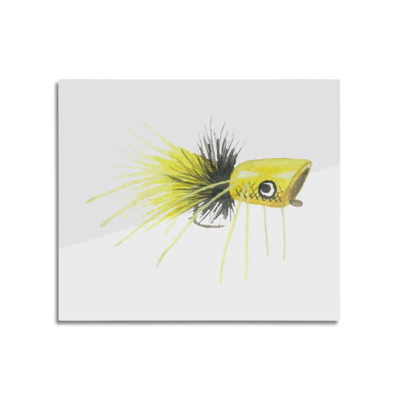 Yellow Popping Bug Home Mounted Aluminum Print by Art By BB's Artist Shop