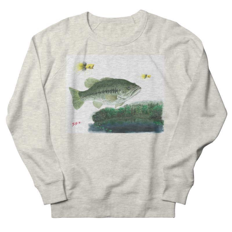 Largemouth Bass Collage Women's French Terry Sweatshirt by Art By BB's Artist Shop