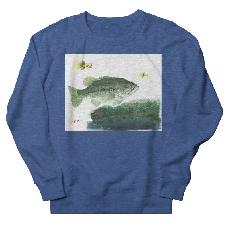 Largemouth Bass Collage Men's French Terry Sweatshirt by Art By BB's Artist Shop