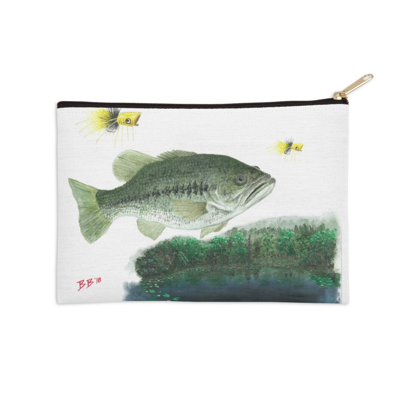 Largemouth Bass Collage Accessories Zip Pouch by Art By BB's Artist Shop