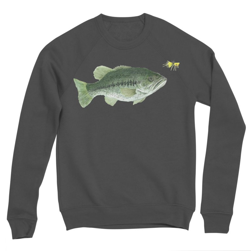 Largemouth Bass with Popping Bug Women's Sponge Fleece Sweatshirt by Art By BB's Artist Shop