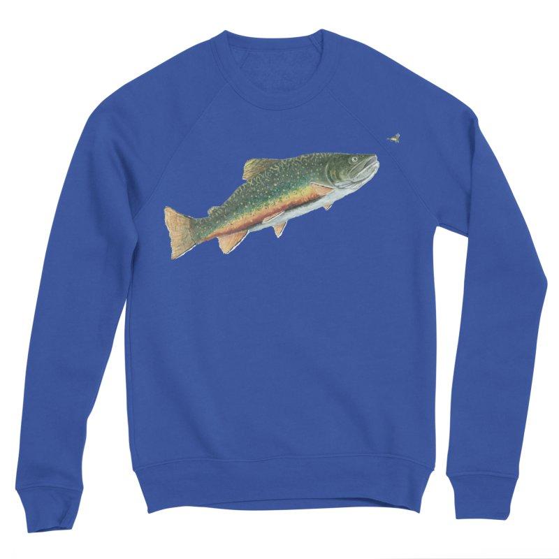 Brook Trout and Dry Fly Women's Sponge Fleece Sweatshirt by Art By BB's Artist Shop