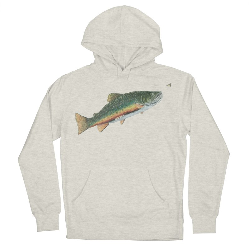 Brook Trout and Dry Fly Women's French Terry Pullover Hoody by Art By BB's Artist Shop