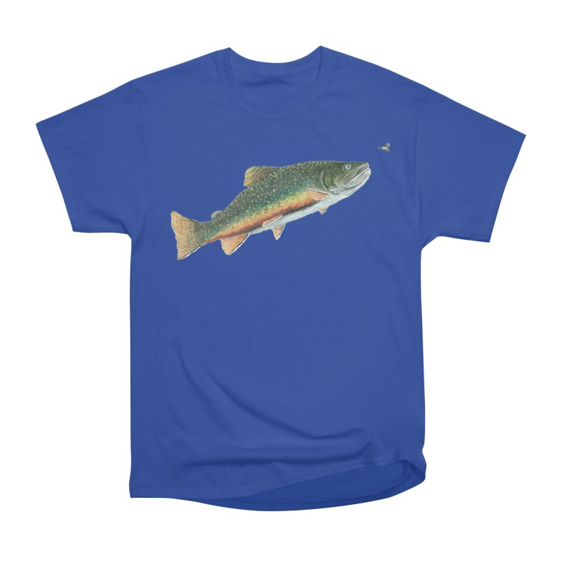 Brook Trout and Dry Fly Women's Heavyweight Unisex T-Shirt by Art By BB's Artist Shop