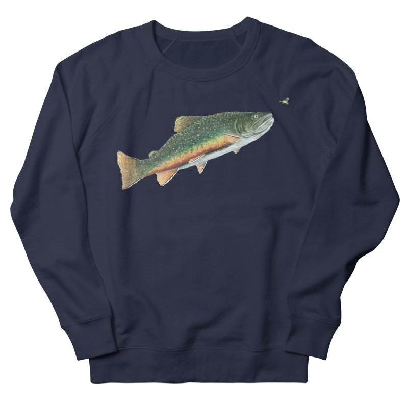 Brook Trout and Dry Fly Women's French Terry Sweatshirt by Art By BB's Artist Shop