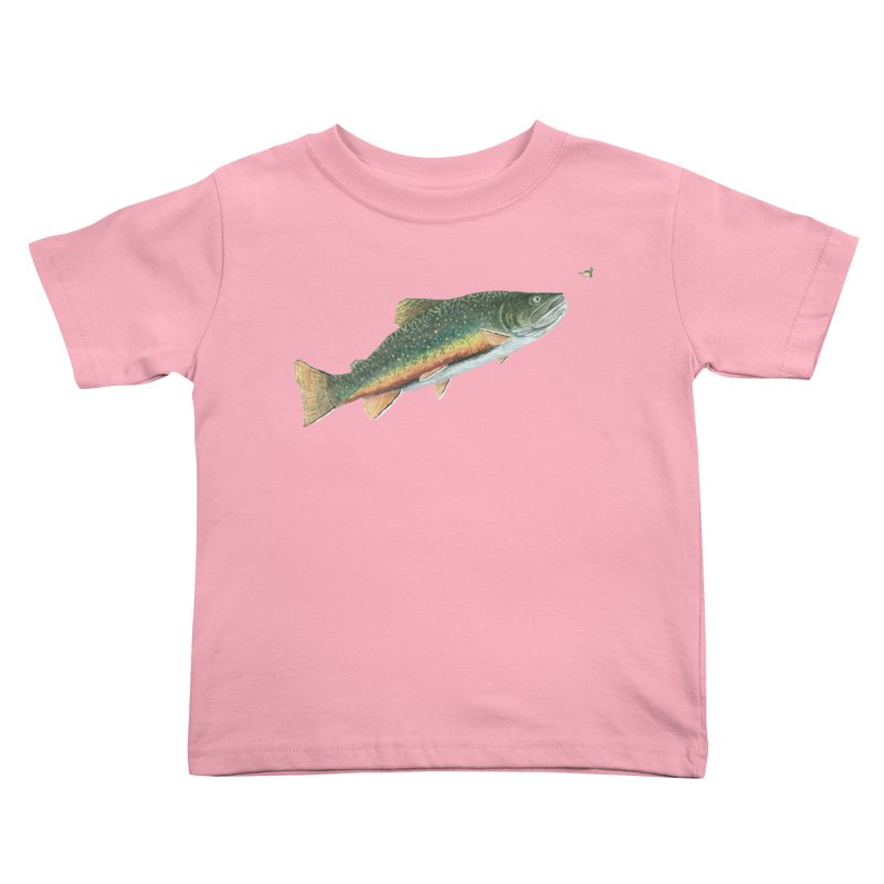 Brook Trout and Dry Fly Kids Toddler T-Shirt by Art By BB's Artist Shop