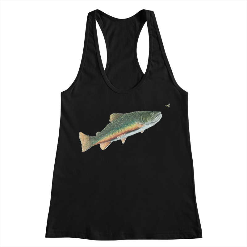 Brook Trout and Dry Fly Women's Racerback Tank by Art By BB's Artist Shop