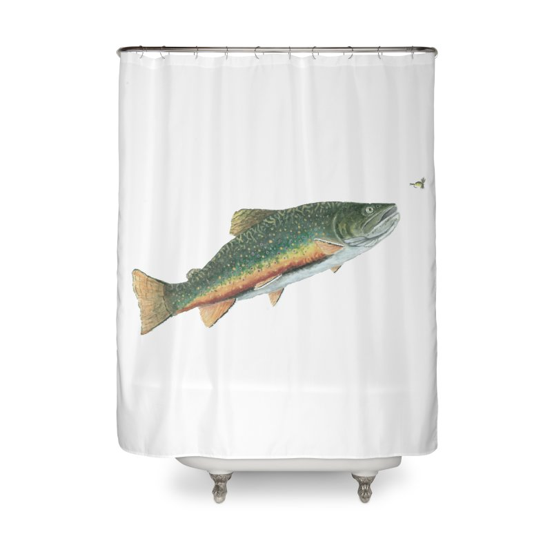 Brook Trout and Dry Fly Home Shower Curtain by Art By BB's Artist Shop