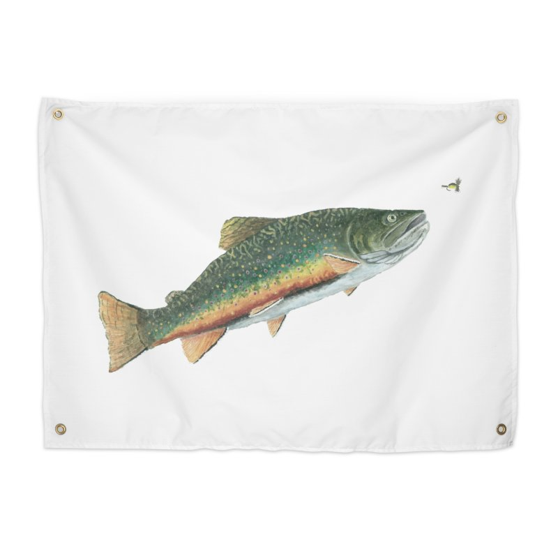 Brook Trout and Dry Fly Home Tapestry by Art By BB's Artist Shop