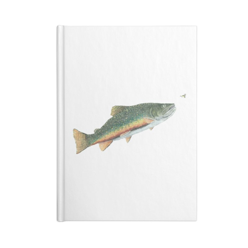 Brook Trout and Dry Fly Accessories Lined Journal Notebook by Art By BB's Artist Shop