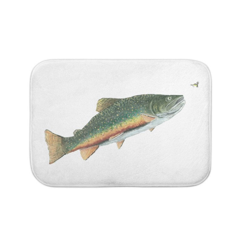 Brook Trout and Dry Fly Home Bath Mat by Art By BB's Artist Shop