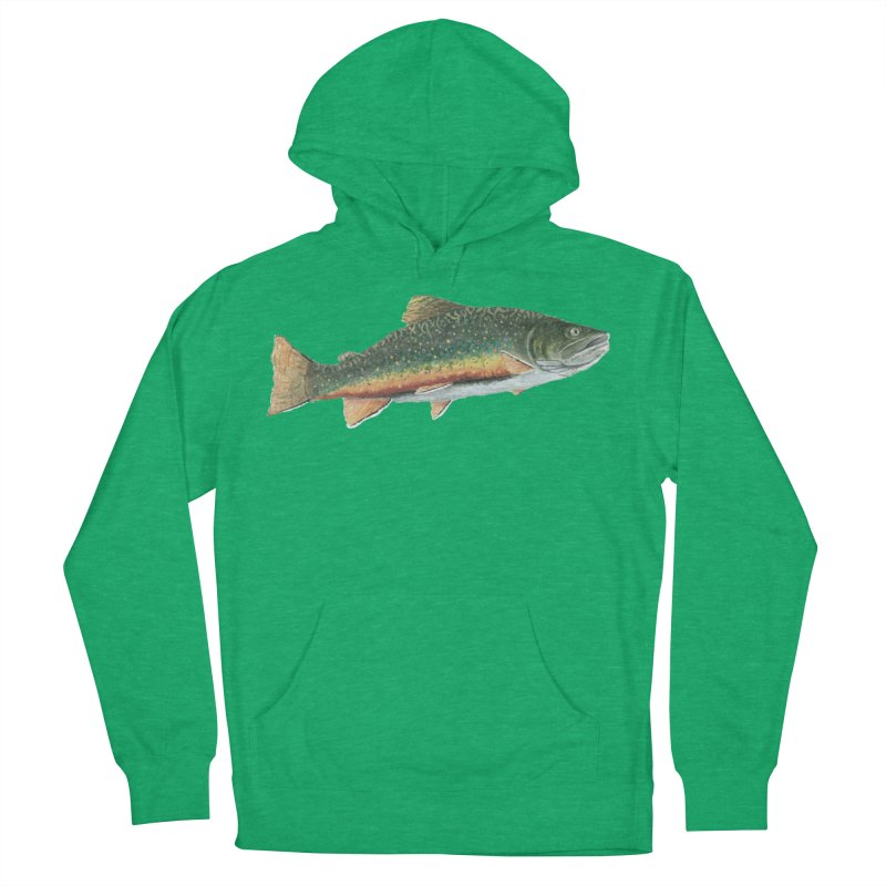 Brook Trout PNG Women's French Terry Pullover Hoody by Art By BB's Artist Shop