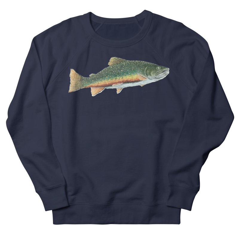 Brook Trout PNG Women's French Terry Sweatshirt by Art By BB's Artist Shop