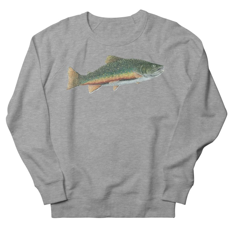 Brook Trout PNG Men's French Terry Sweatshirt by Art By BB's Artist Shop