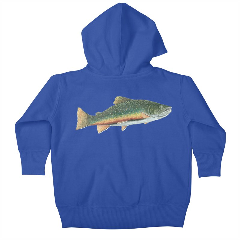 Brook Trout PNG Kids Baby Zip-Up Hoody by Art By BB's Artist Shop