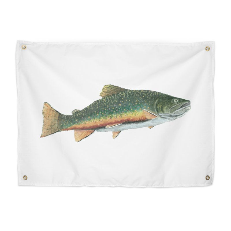 Brook Trout PNG Home Tapestry by Art By BB's Artist Shop