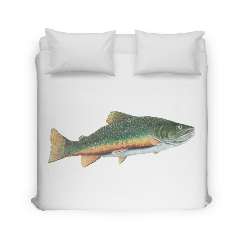 Brook Trout PNG Home Duvet by Art By BB's Artist Shop