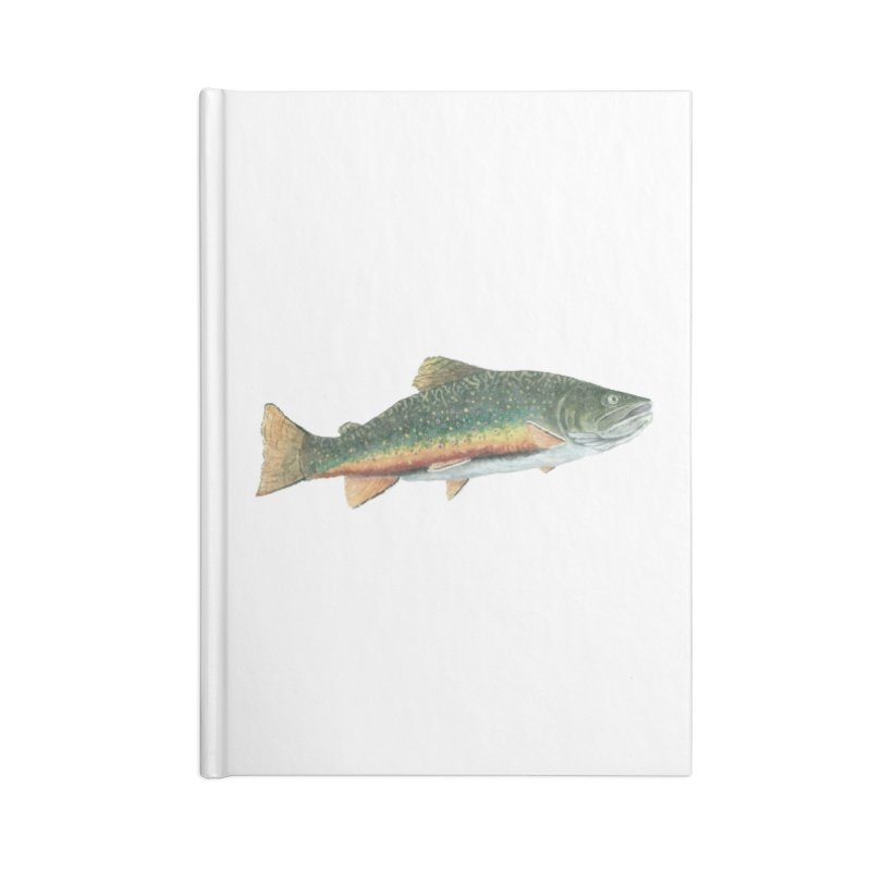 Brook Trout PNG Accessories Lined Journal Notebook by Art By BB's Artist Shop