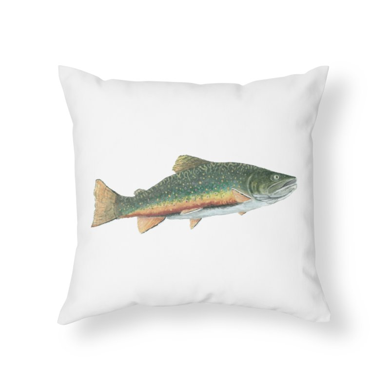 Brook Trout PNG Home Throw Pillow by Art By BB's Artist Shop