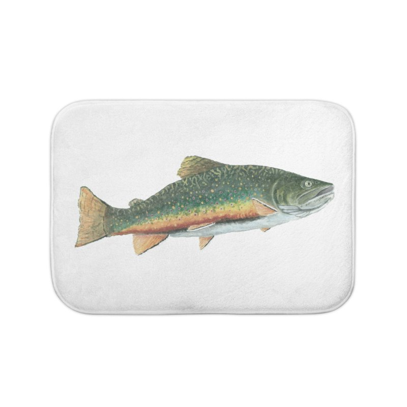 Brook Trout PNG Home Bath Mat by Art By BB's Artist Shop