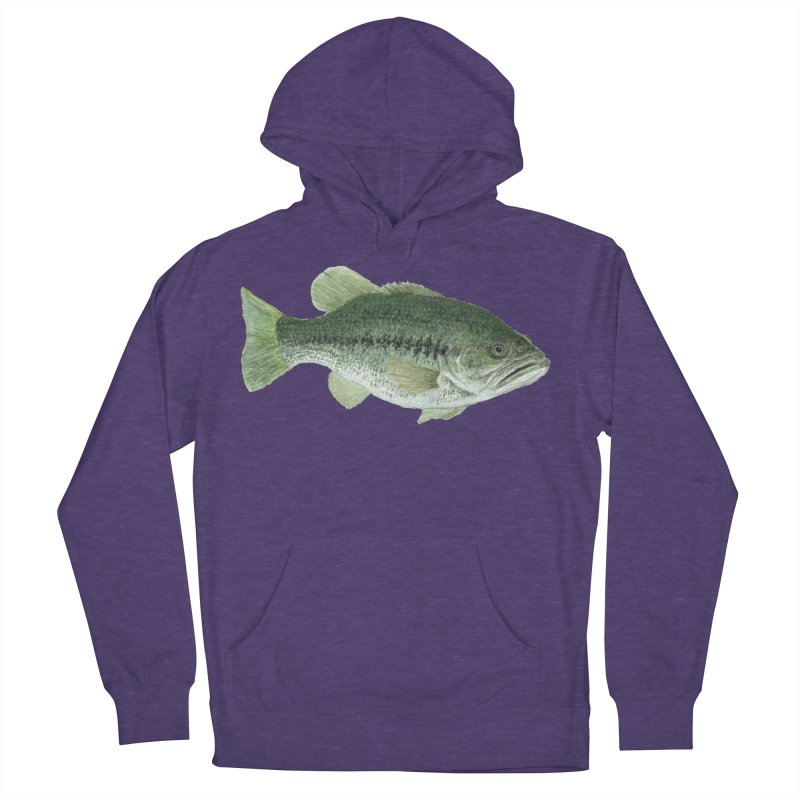 Largemouth Bass PNG Women's French Terry Pullover Hoody by Art By BB's Artist Shop