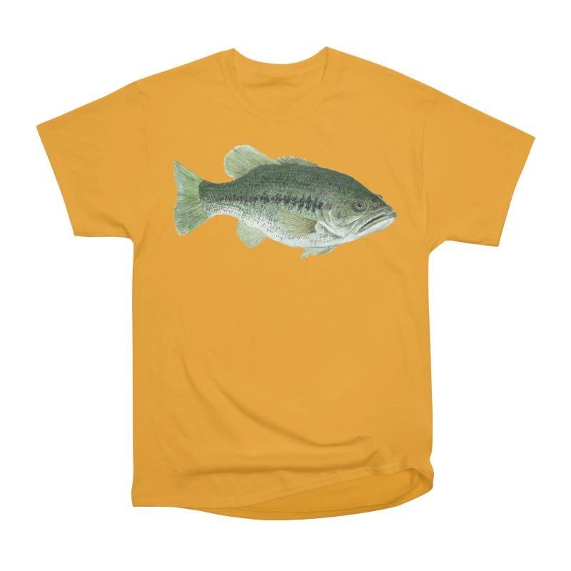 Largemouth Bass PNG Women's Heavyweight Unisex T-Shirt by Art By BB's Artist Shop