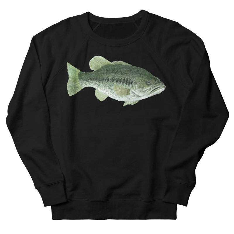 Largemouth Bass PNG Women's French Terry Sweatshirt by Art By BB's Artist Shop