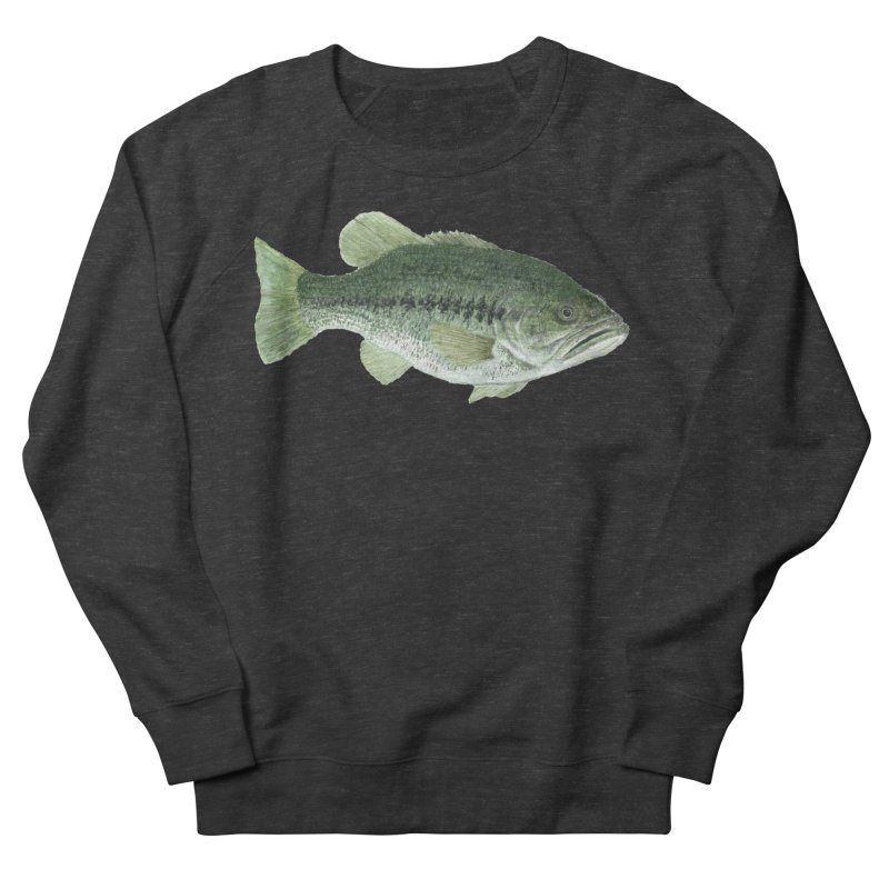 Largemouth Bass PNG Men's French Terry Sweatshirt by Art By BB's Artist Shop