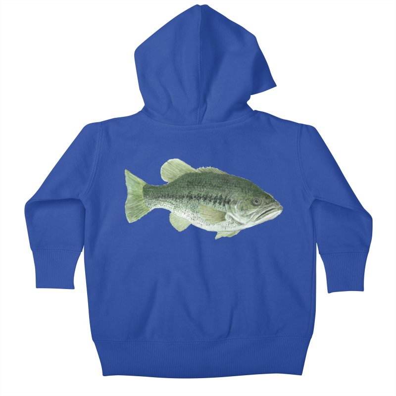Largemouth Bass PNG Kids Baby Zip-Up Hoody by Art By BB's Artist Shop