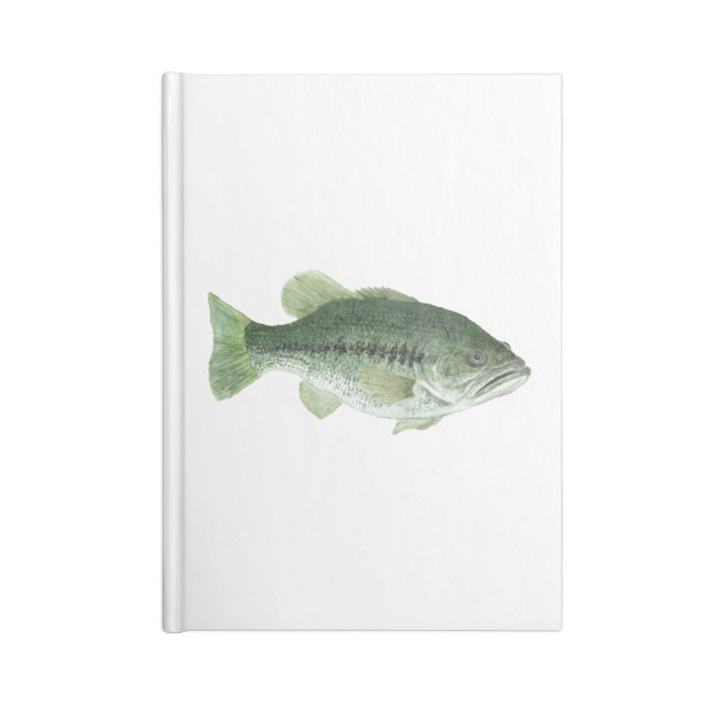 Largemouth Bass PNG Accessories Lined Journal Notebook by Art By BB's Artist Shop