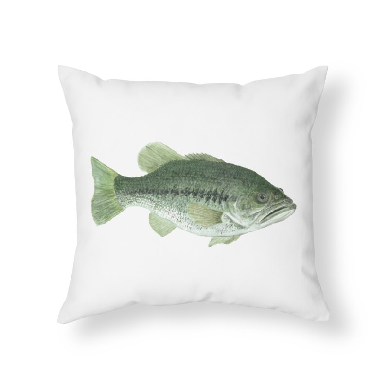 Largemouth Bass PNG Home Throw Pillow by Art By BB's Artist Shop