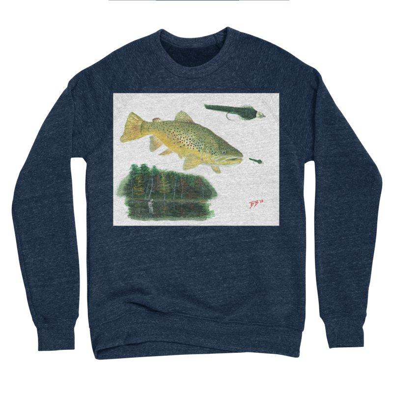 Brown Trout Collage Women's Sponge Fleece Sweatshirt by Art By BB's Artist Shop