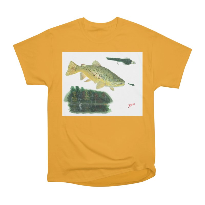 Brown Trout Collage Women's Heavyweight Unisex T-Shirt by Art By BB's Artist Shop