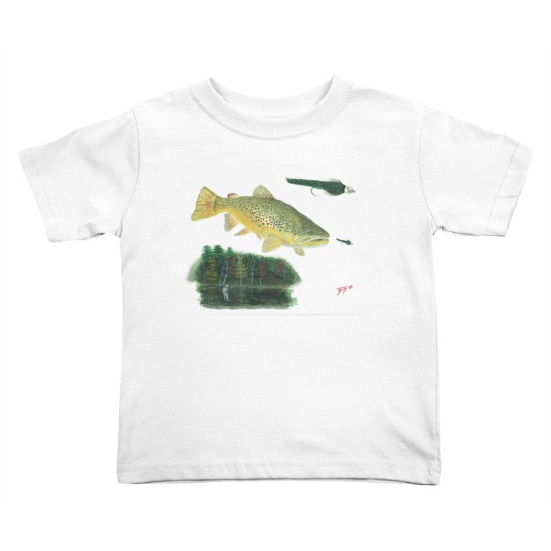 Brown Trout Collage Kids Toddler T-Shirt by Art By BB's Artist Shop