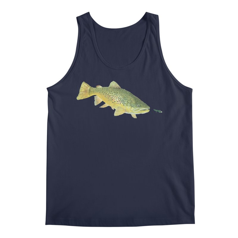 Brown Trout with fly Men's Regular Tank by Art By BB's Artist Shop