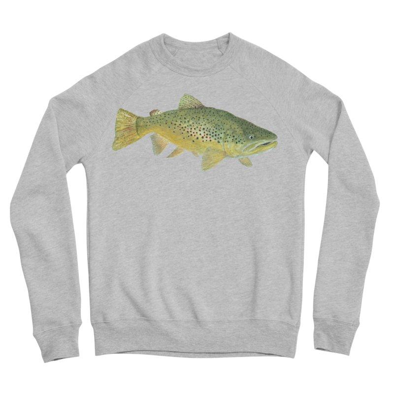 Brown Trout PNG Women's Sponge Fleece Sweatshirt by Art By BB's Artist Shop
