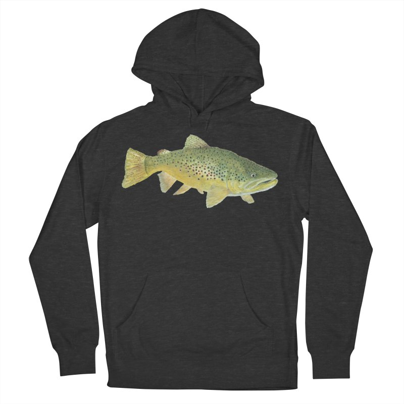 Brown Trout PNG Women's French Terry Pullover Hoody by Art By BB's Artist Shop