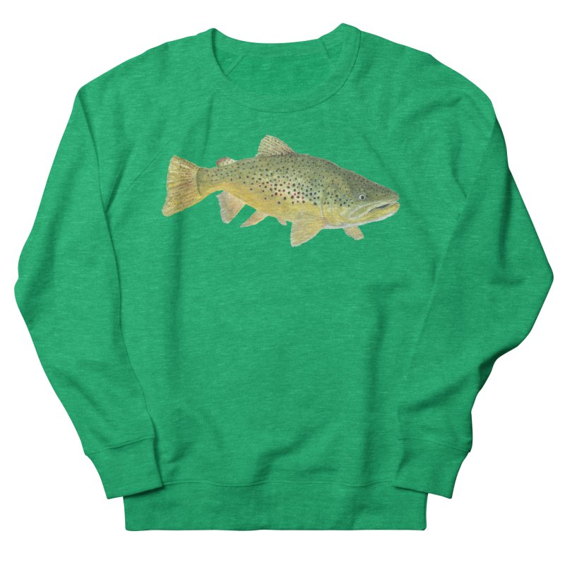 Brown Trout PNG Women's French Terry Sweatshirt by Art By BB's Artist Shop