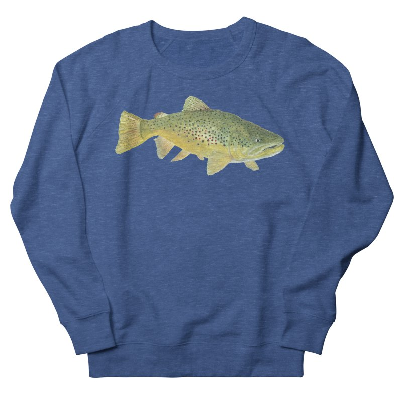 Brown Trout PNG Men's French Terry Sweatshirt by Art By BB's Artist Shop