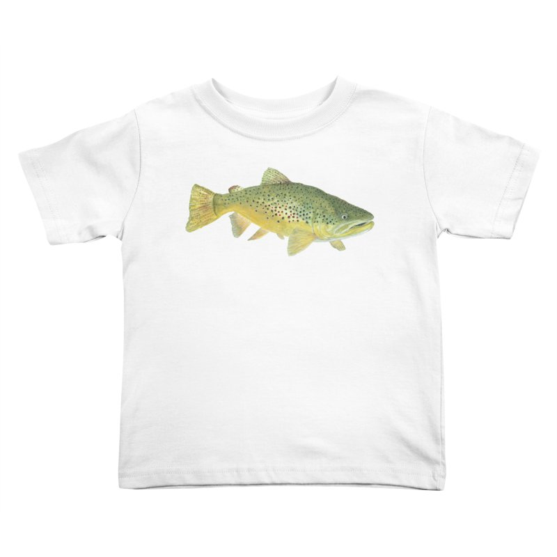 Brown Trout PNG Kids Toddler T-Shirt by Art By BB's Artist Shop