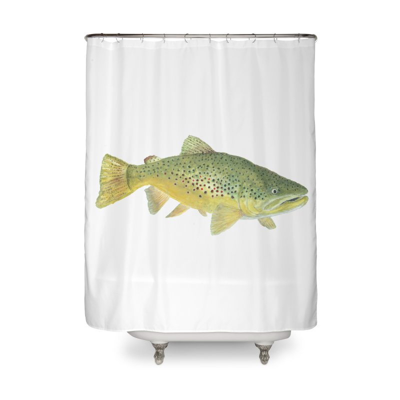 Brown Trout PNG Home Shower Curtain by Art By BB's Artist Shop