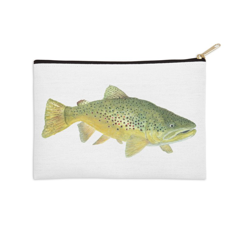 Brown Trout PNG Accessories Zip Pouch by Art By BB's Artist Shop