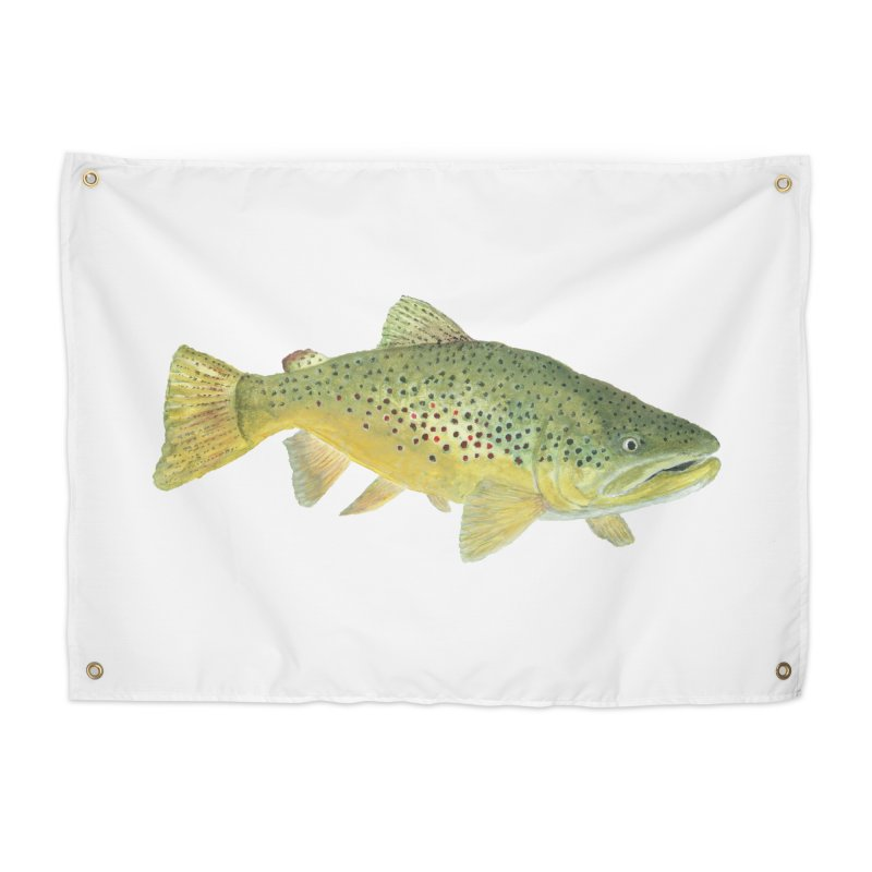 Brown Trout PNG Home Tapestry by Art By BB's Artist Shop
